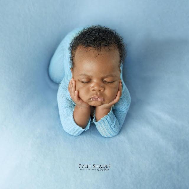 Check out the lovely photos of Actor Gideon second son (photos)
