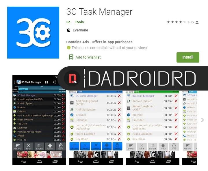 Aplikasi Task Manager System Monitoring Android Terbaik Dadroidrd