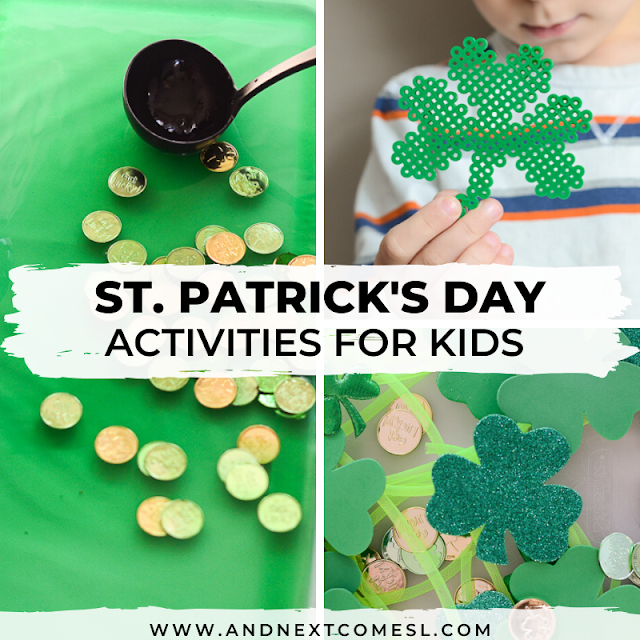 St. Patrick's Day sensory activities and crafts for kids