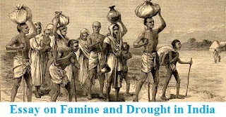 Essay on Famine and Drought in India
