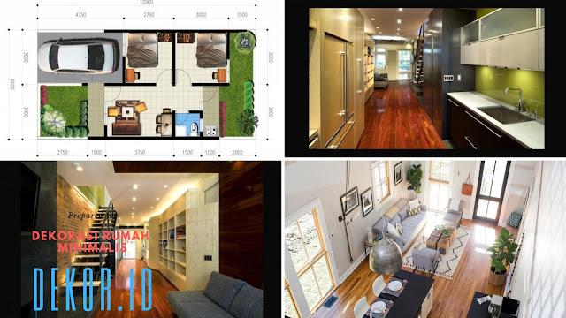 Dekorasi rumah minimalis panjang ke belakang