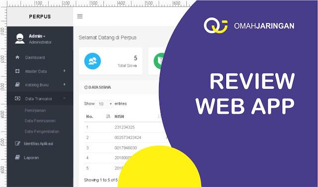 Review Aplikasi Perpustakaan Berbasis Web, PHP, MySQL dan Codeigniter