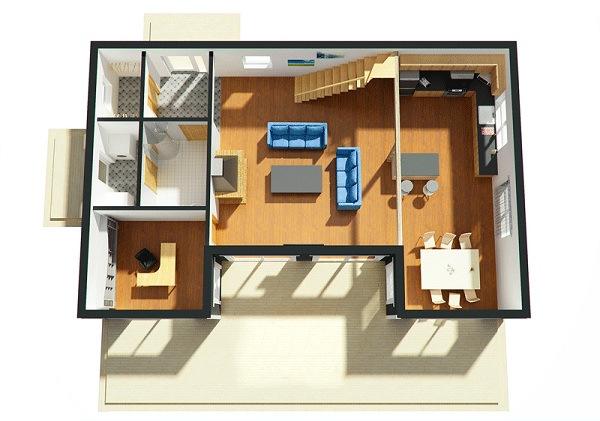 Planos Proyecto Dirección y Construcción de Obras: Casa 3 ...