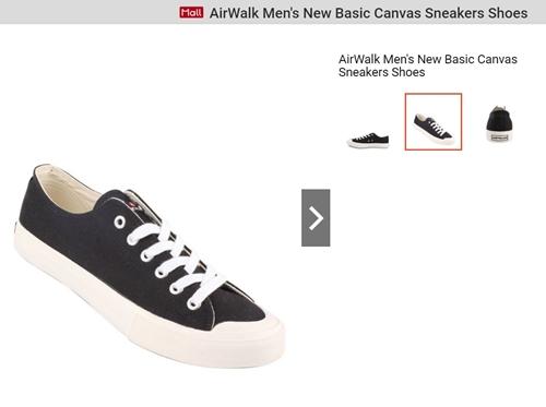 AirWalk Men's New Basic Canvas Sneakers Shoes