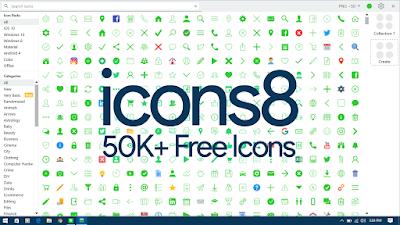 icons8 50K+ Free Icons