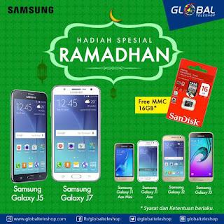 Samsung Promo Ramadhan Hadiah SanDisk MMC 16 GB di Global Teleshop