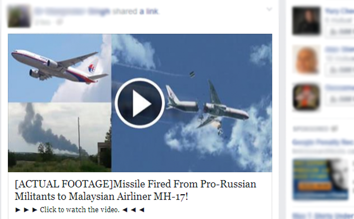Real Footage of Malaysian Flight MH 17 Shot Down