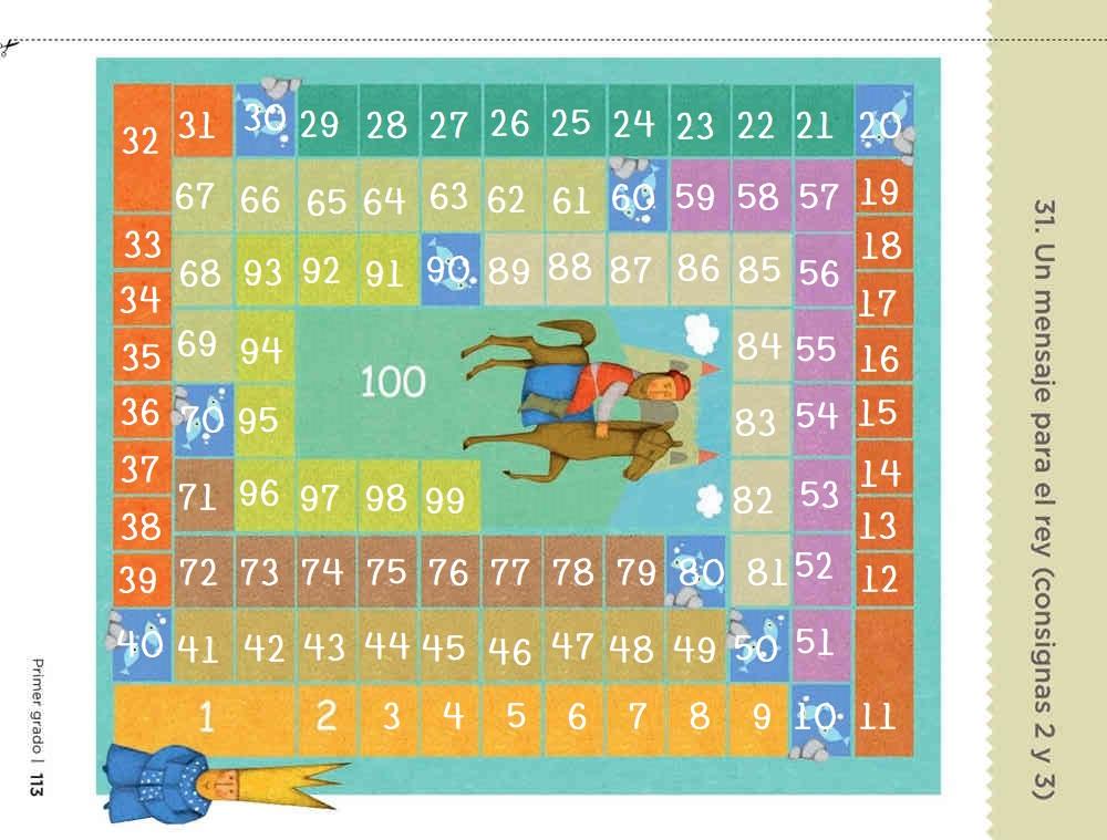 Un mensaje para el rey pagina 113 desafíos matemáticos primer grado