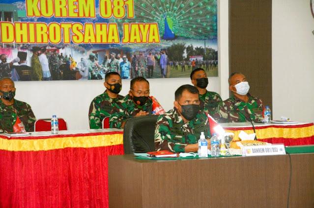 Siap Gelar Katpuanter Bintara Abit Dikjurba Otsus TNI AD, Danrem 081/DSJ Terima Arahan dari Kasad