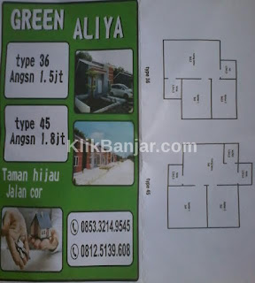 perumahan permanen di guntung manggis banjarbaru green aliya