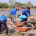 CĐCS Khối Đảng - Đoàn thể tham gia các hoạt động xây dựng Nông thôn mới