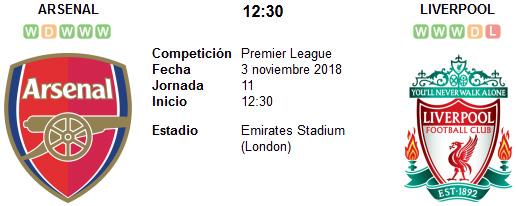 Arsenal vs Liverpool en VIVO