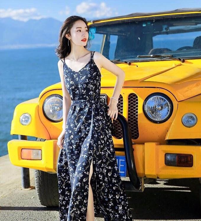 Đầm Maxi Họa Tiết BY4314