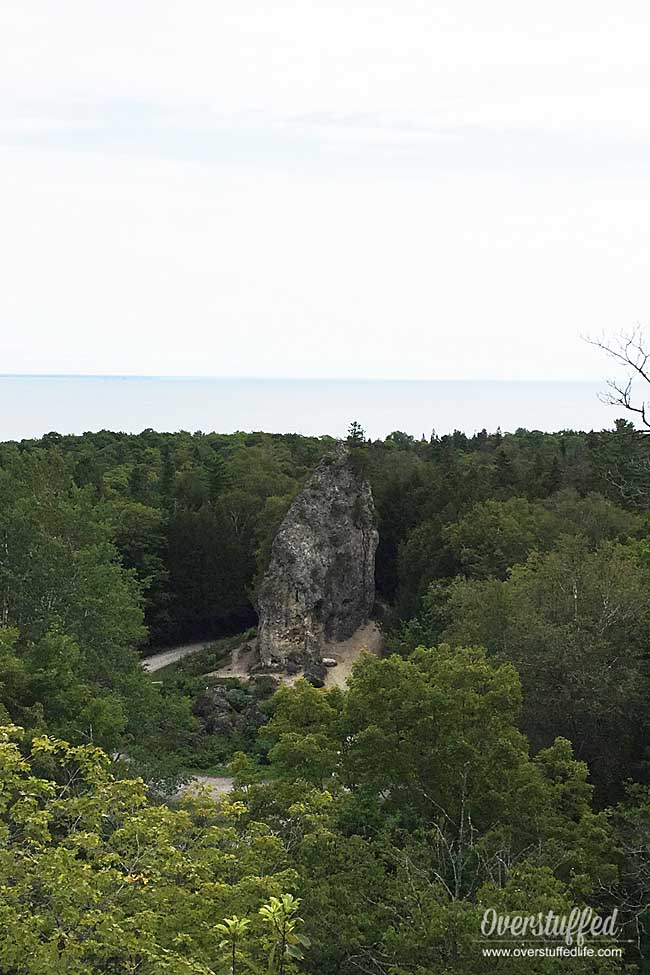 Sugar loaf on Mackinac Island is a cool site to see while hiking the trails on the island.