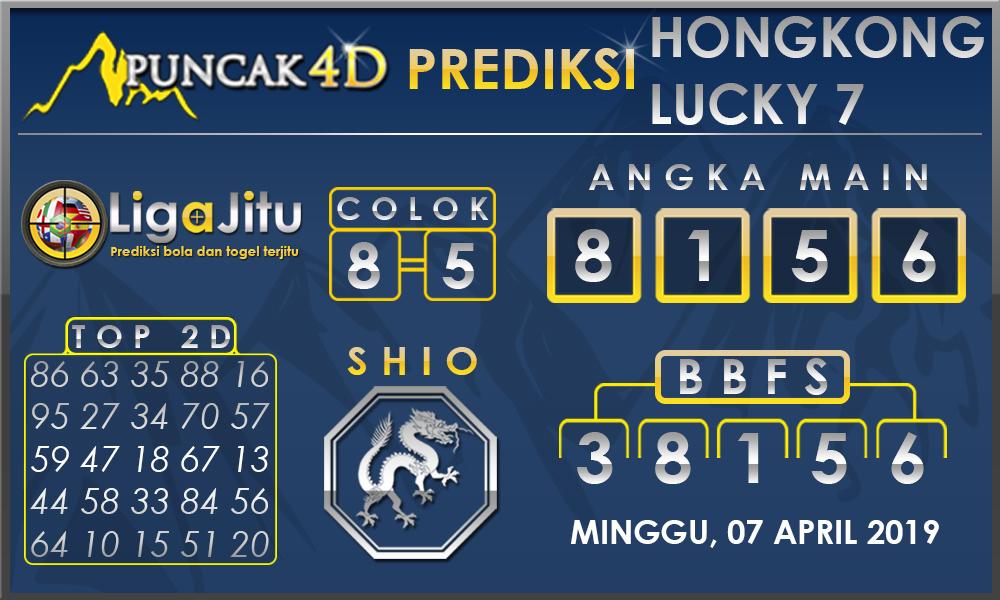 PREDIKSI TOGEL HONGKONG LUCKY7 PUNCAK4D 06 APRIL 2019