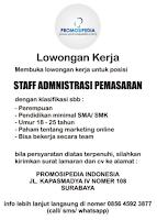 Open Recruitment Surabaya at Promosipedia Indonesia Januari 2021