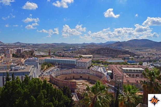 Cartagena, vista sull'anfiteatro romano