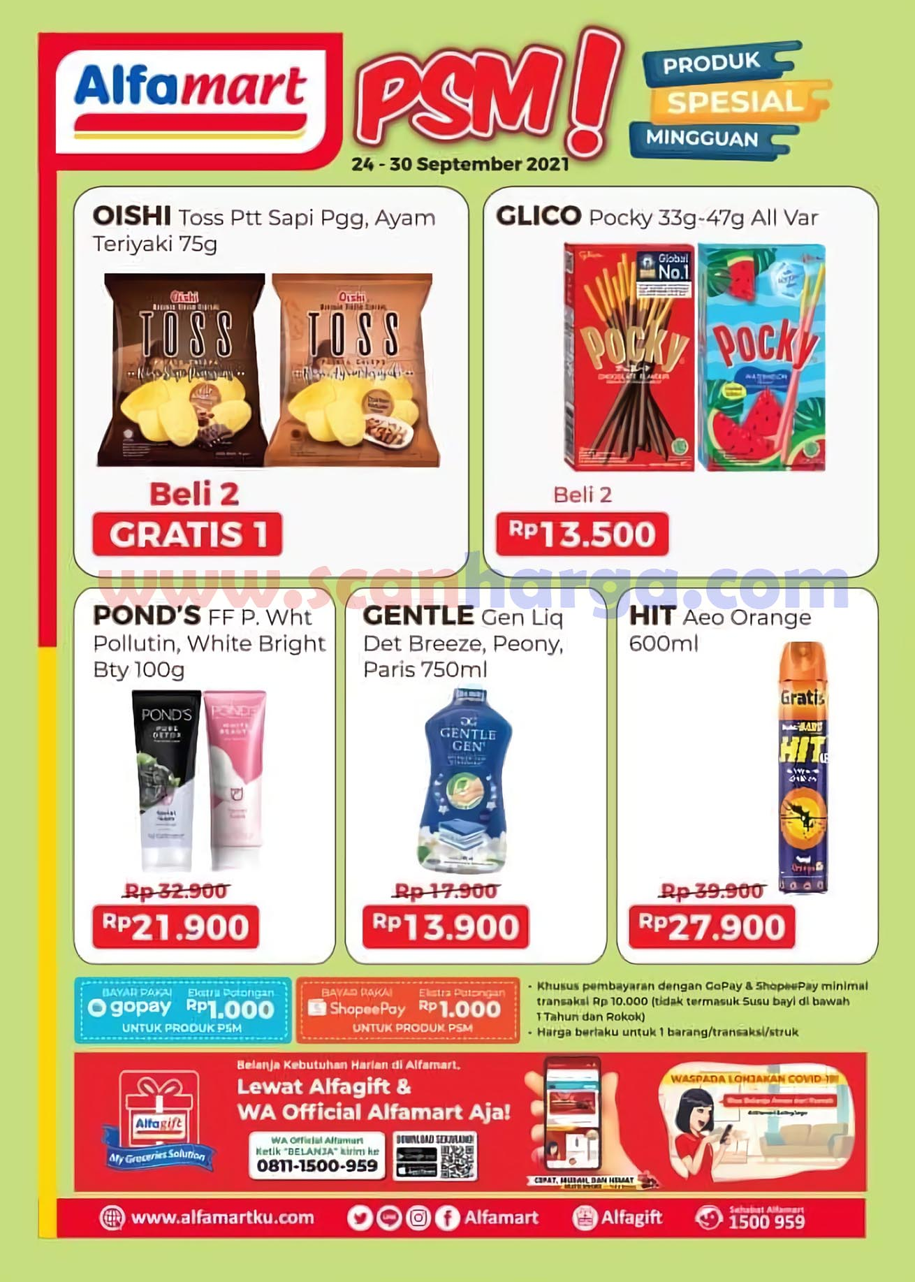 Katalog Promo PSM Alfamart 24 - 30 September 2021