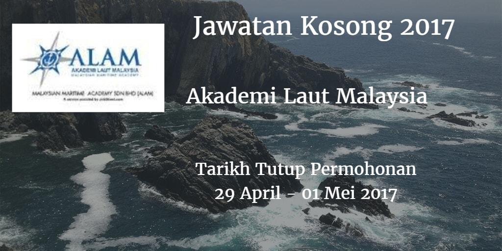 Jawatan Kosong ALAM 29 April - 01 Mei 2017