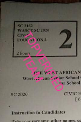WAEC 2021/2022 Civic Education OBJ & Theory questions Answers is out Aa