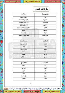 حصريا مذكرة مدرسة بايونير للغات في اللغة العربية للصف الخامس الابتدائي الترم الاول