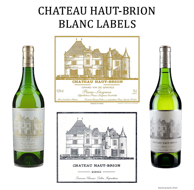 Chateau Haut-Brion Blanc old and new label  by ©LeDomduVin 2020