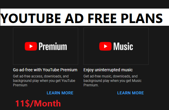 YouTube Ads Free Plans