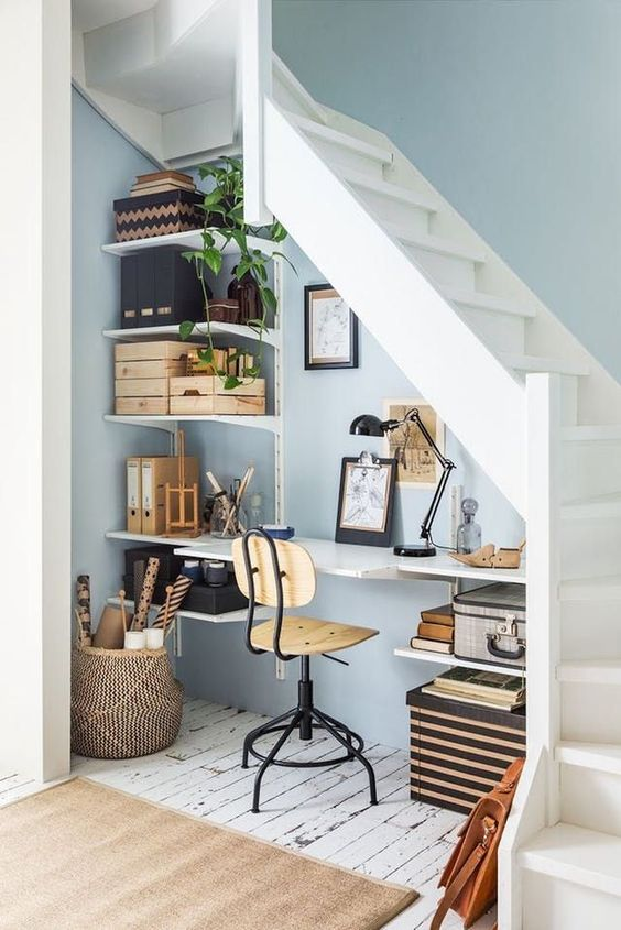 Making use of the space under your stairs is an idea that I am all for
