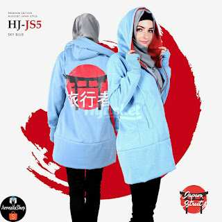 Hijacket Japan Street HJ-JS1 Dark Grey, HJ-JS2 Grey, HJ-JS3 Navy, HJ-JS4 Black, HJ-JS5 Biru Muda All Size Fit to L