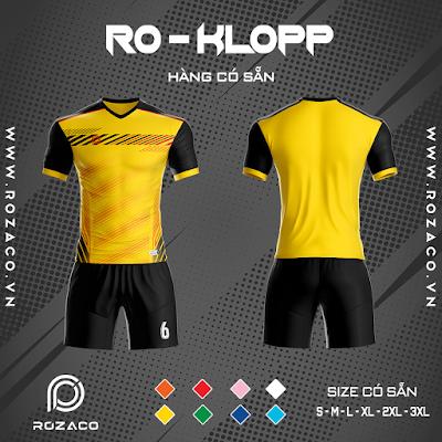 Áo Không Logo Rozaco RO-KLOPP Màu Vàng