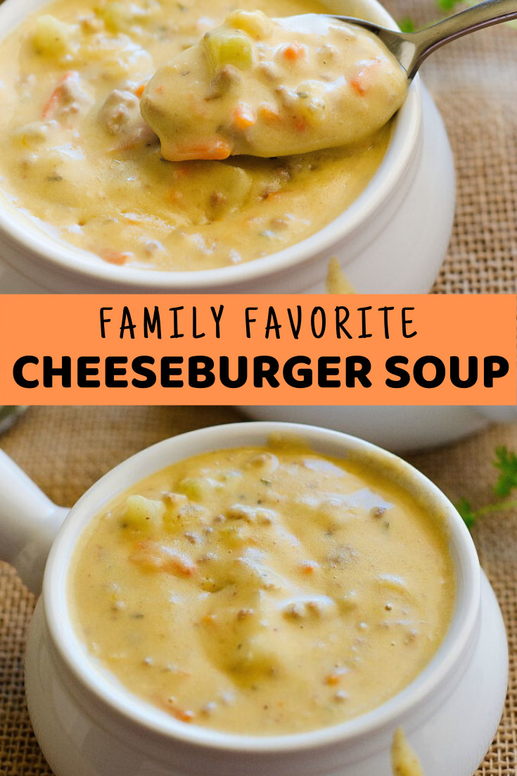 Family Favorite Cheeseburger Soup