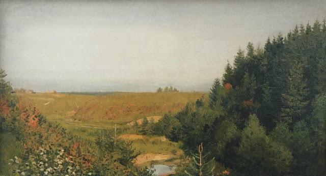 Исаак Ильич Левитан - Пейзаж с лесной рекой. 1880-е