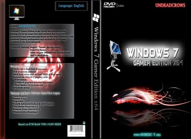 ✅ Windows 7 Gamer Edition【X64 Bits】Inglés [ UL - FF] Windows-7-gamer-edition