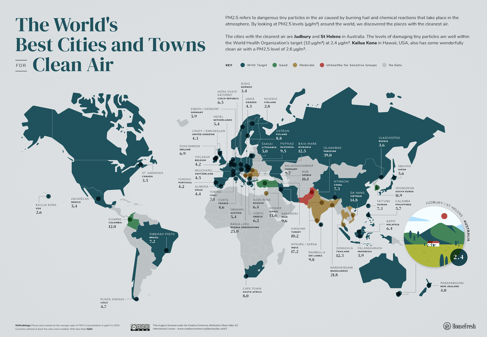 The best cities for clean air in the world