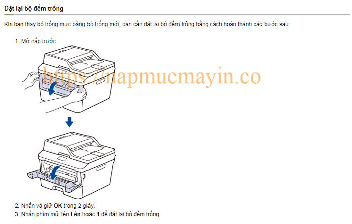 Sửa lỗi Replace Drum ở máy in Brother MFC L2701DN 1
