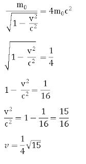 rumus massa relativistik, menghitung massa relativistik