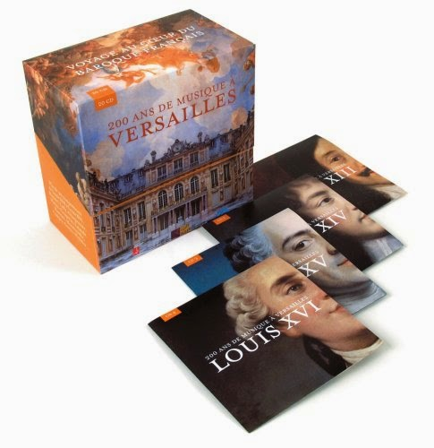200 Years of Music at Versailles box set featuring music from the periods of Louis XIV to Louis XVI