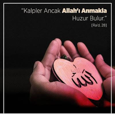 """""""Kalpler ancak Allah'ı anmakla huzur bulur."""" (Ra'd Suresi 28), kalp, el, dua,"""