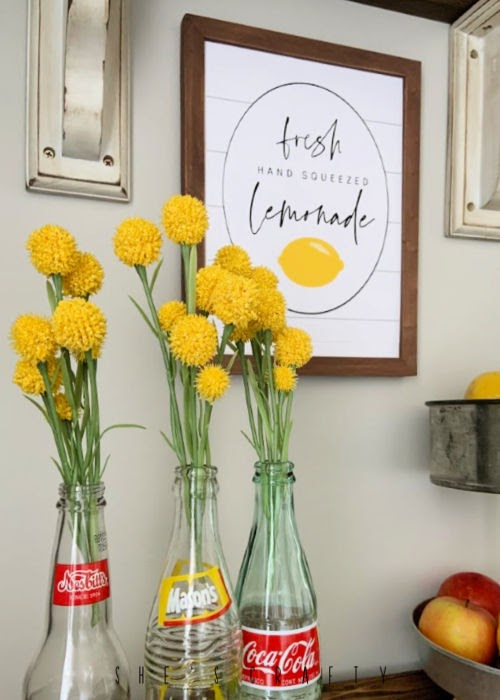Lemonade Printable in Summer Home Decor