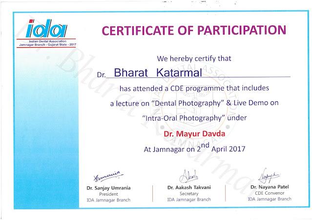 Dental Photography and Intra Oral Photography by Dr Mayur Davda at Jamnagar