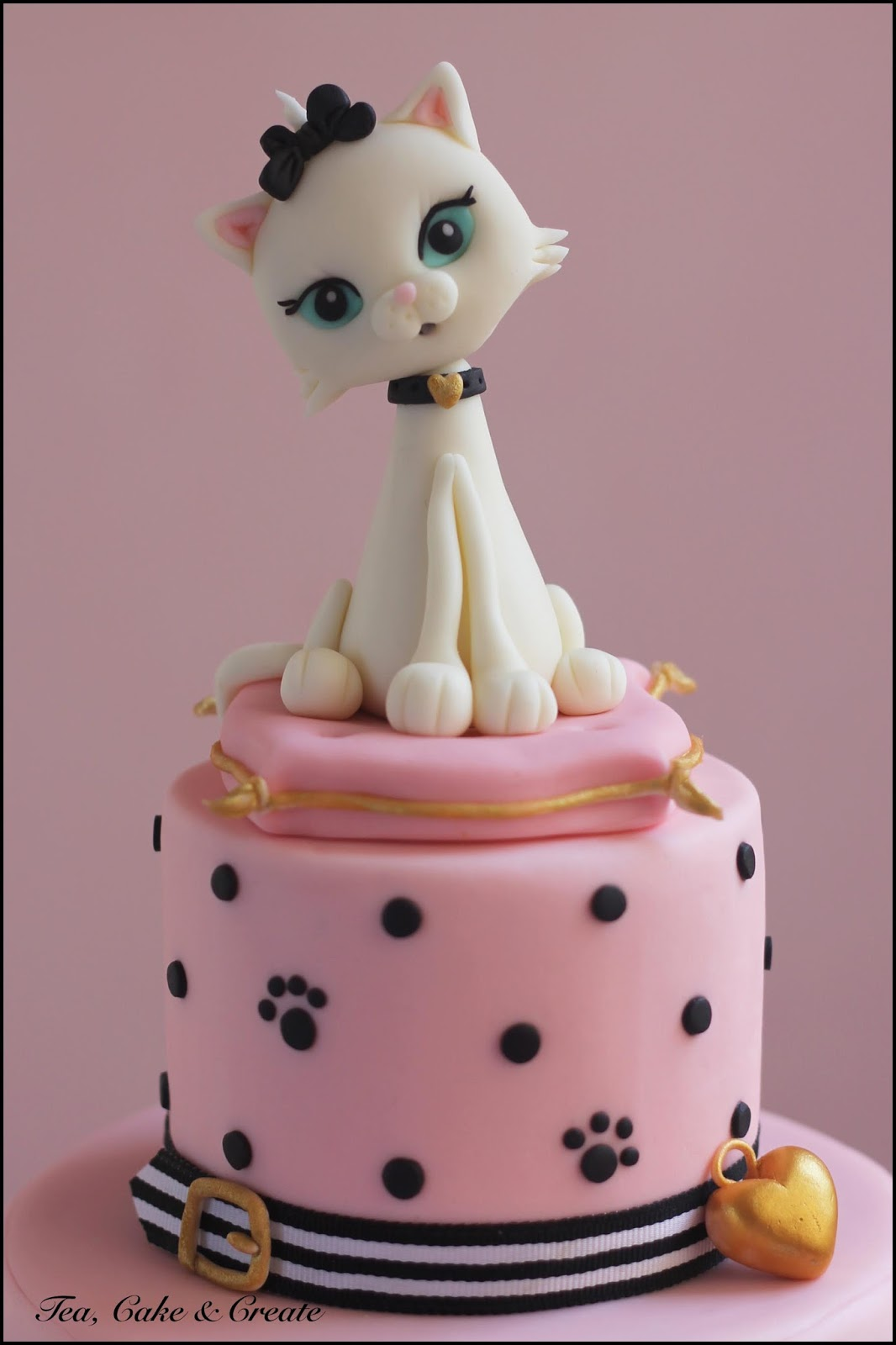 Tea Cake Amp Create Cat Themed Cake