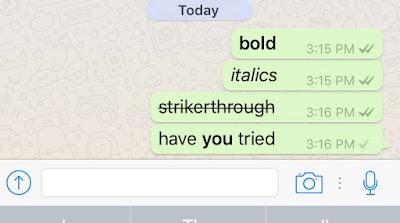 Cara Membuat Tulisan Tebal Miring dan Garis Tengah di Whatsapp