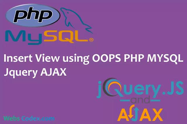 CRUD Application Using PHP-OOP Jquery AJAX, DataTable with SweetAlert