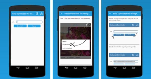 تطبيق لتحميل الصور و مقاطع الفيديو من الانستجرام على اندرويد