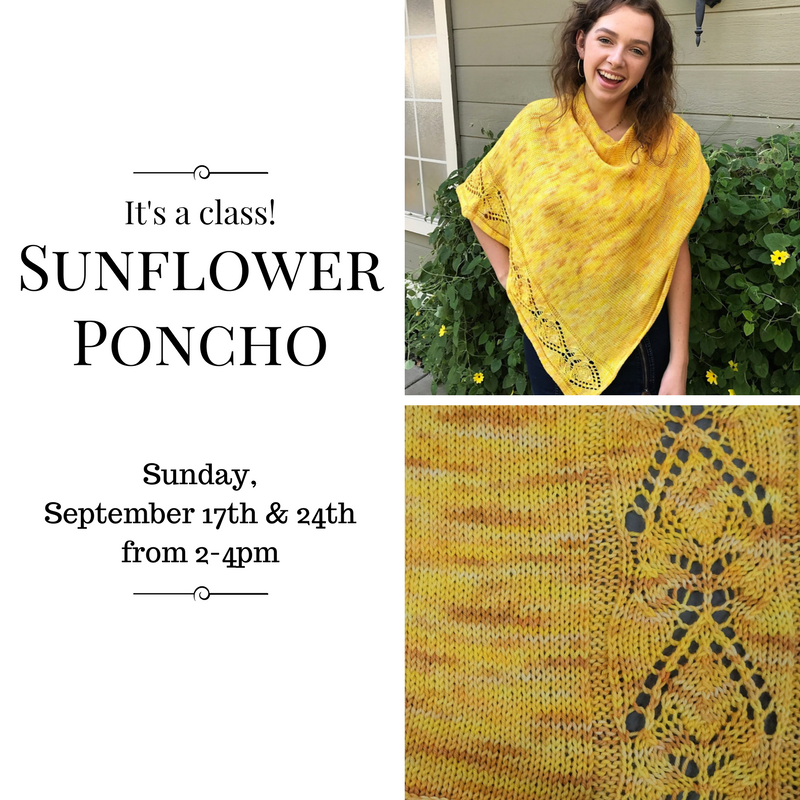 Knitique: Sunflower Poncho - It\'s a class!