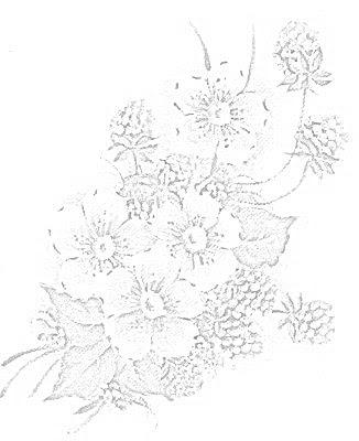 desenho para pano de prato flores