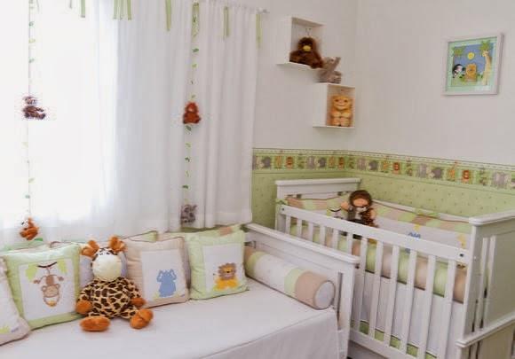 Dormitorios de beb tema la jungla dormitorios colores y for Dormitorio infantil bosque