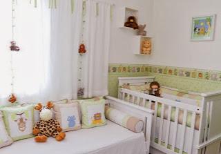 cuarto de bebé tema selva