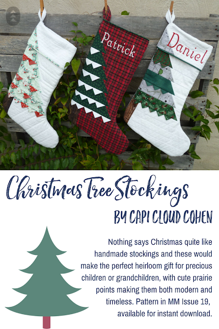 Make Modern Issue 19 Chirstmas Tree Stockings Capi Cloud Cohen