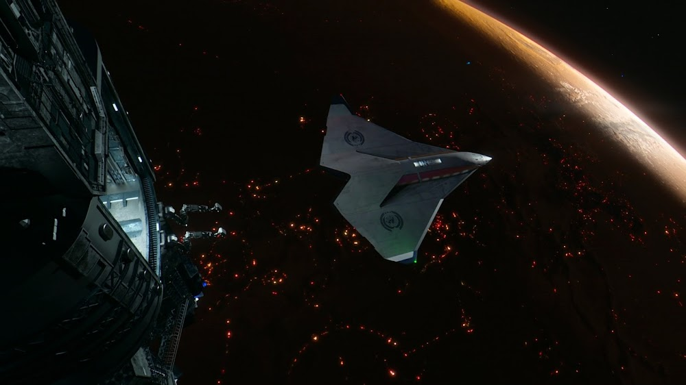 Shuttle over Mars in Season 4 of The Expanse